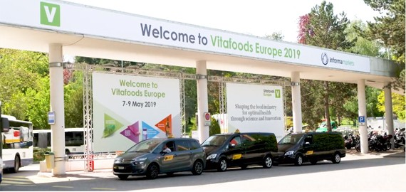Get to Vitafoods Europe by taxi